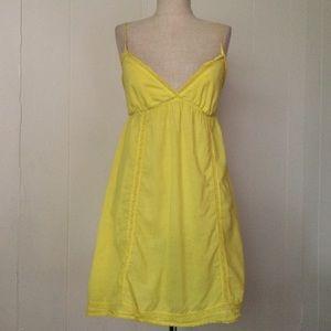 Yellow Cotton Lace Chemise